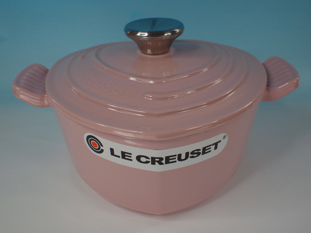 Le Creuset Heart shaped Cocotte - Chiffon Pink/Cotton - 阿太雜貨 (英國,香港集運) - 1