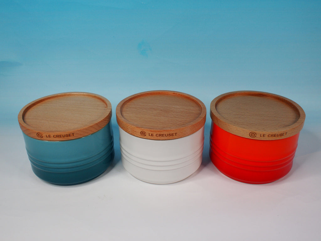 Le Creuset Stoneware 0.34L  Storage Jar with Wooden Lid - 阿太雜貨 (英國,香港集運)