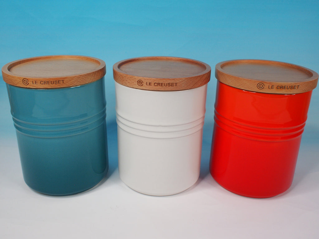 Le Creuset Stoneware 0.675L  Storage Jar with Wooden Lid - 阿太雜貨 (英國,香港集運)