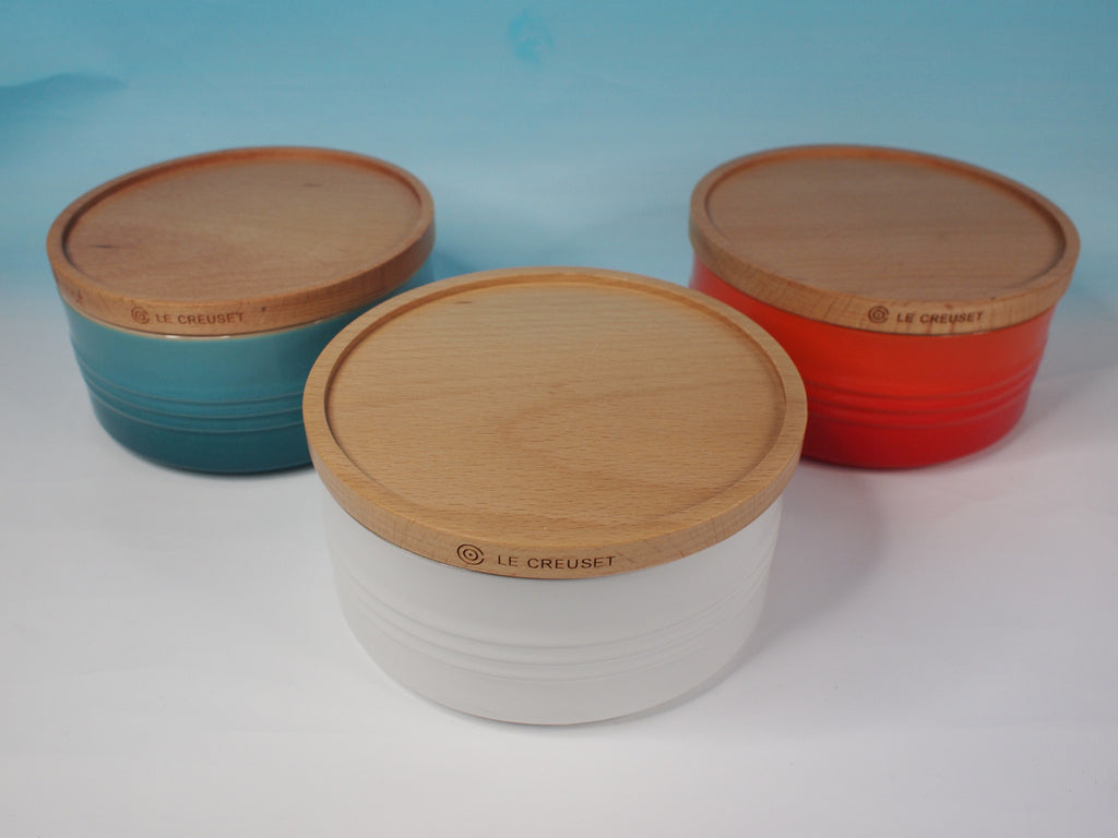 Le Creuset Stoneware 0.65L  Storage Jar with Wooden Lid - 阿太雜貨 (英國,香港集運)