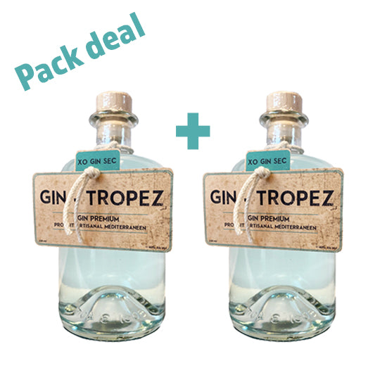 PACK DUO - Gin-Tropez 40 ° 50Cl-Ginsonline