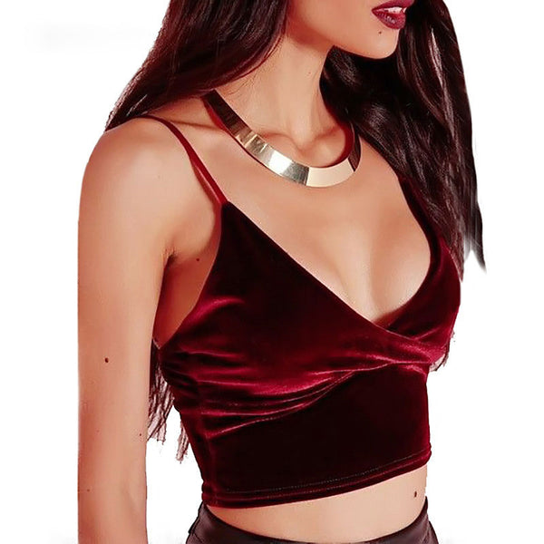 Sexy V-Neck Strap Backless Vest Tank Top Cami Shirt Top Tee