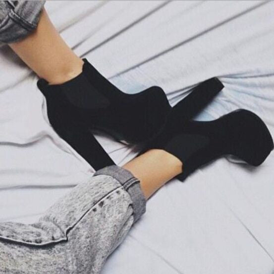 Waterproof Sexy Round Toe High Heels Shoes