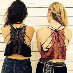 Lace Stitching V-Neck Vest Tops Camisole