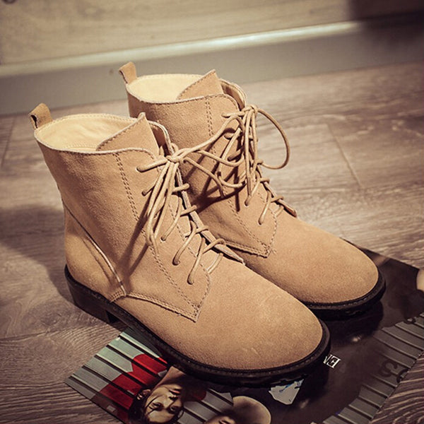 Retro Fashion Strappy Martin Boots Shoes