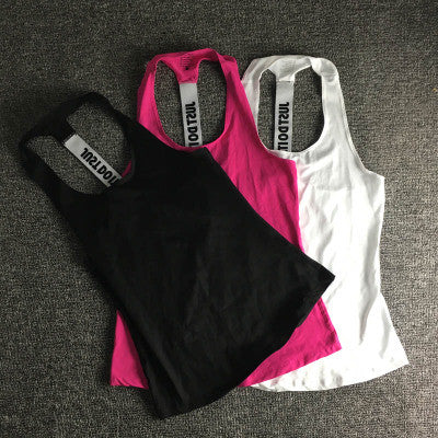 Fashion Women Gym Sports Sleeveless Running Loose Vest Tank Top Cami