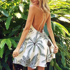 Print Halter Beach Dress