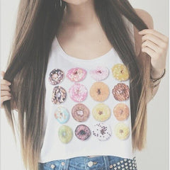 Fashion Print Sleeveless Sling Vest Tops Camisole