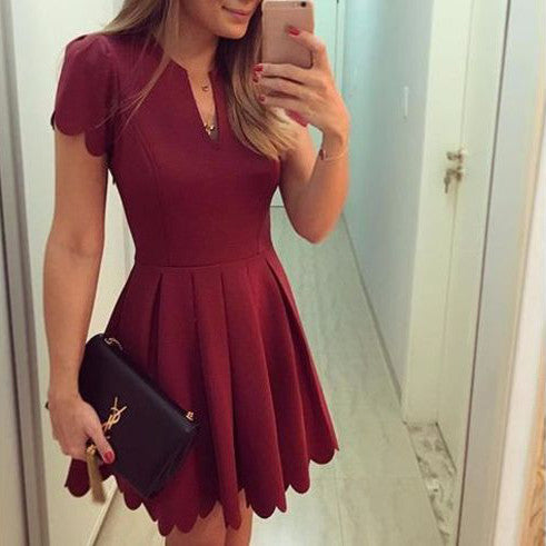 Fashion Elegant Sleeve Party Mini Dress