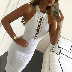 Halter Neck sleeveless tight dress