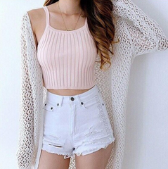 Fashion solid color short Vest Tops Camisole