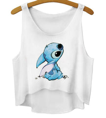 Cartoon Pattern Digital Print Vest Tops Camisole