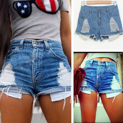 Fashion hole denim Jeans Shorts Pants