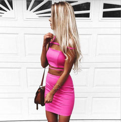 Package Hip Bandage Two-Piece Dress