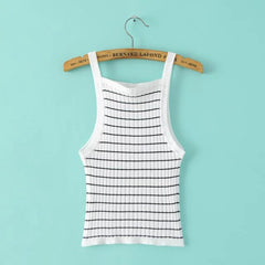 Sexy striped knit  Vest Tops Camisole