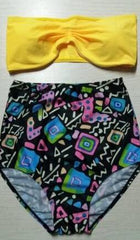 High Waist Print Bikini Swimsuit Swimwear