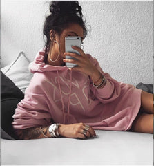 Fashion Casual Letter Print  loose blouse top Hoodie Sweatshirt Knitwear