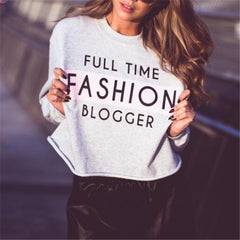 Fashion Letter Pattern Print Loose blouse Top Sweater Knitwear