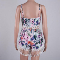 Print Tassel Sexy Sling Two-Piece