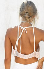 Backless Halter Print Vest Tank Top Camisole