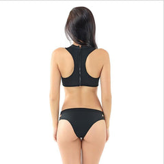 Neoprene Gauze Sexy Push Up Bikini Swimsuit Swimwear
