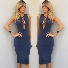 Strappy Sexy Hollow Sleeveless Dress
