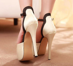 Fashion Peep Toe Strappy Stiletto High Heels Shoes