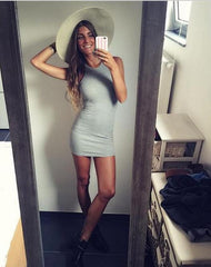 Sleeveless Strapless Bodycon Dress