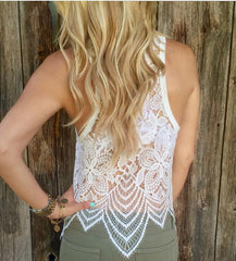 Solid Color Sexy Lace Sling Vest Tops Camisole