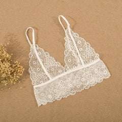 Hollow Out Lace Straps Underwear Lingerie Bra