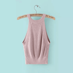 Retro Knit Sleeveless Vest Tops Camisole