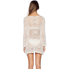 beach Crochet long-sleeved dress