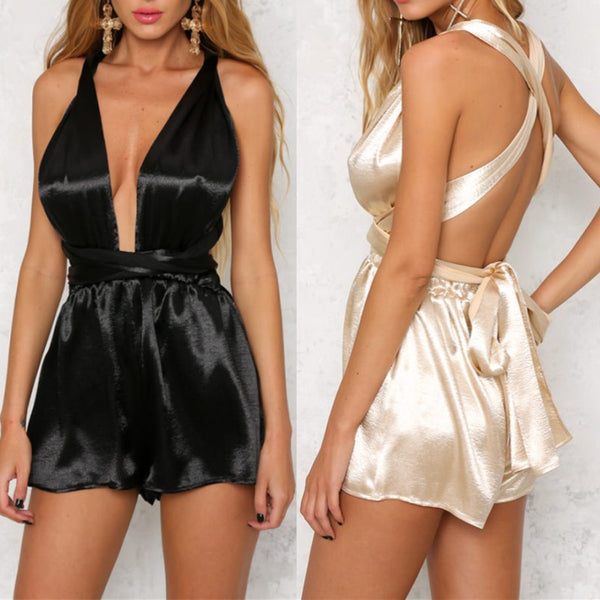 Backless Romper Jumpsuit