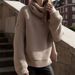Fashion Long Sleeve Loose Knit Top Sweater