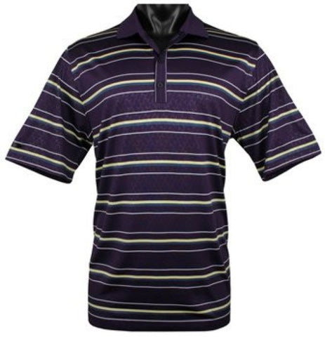 Greg Norman Mens Polo Shirt Santa Rosa Plum Embossed Golf Shirts