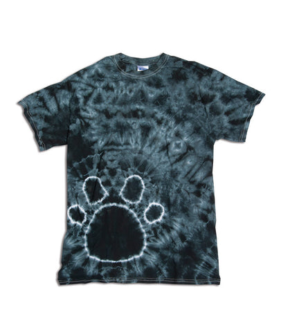 Gildan Tie-Dye Youth Pawprints Tee - Black (S)