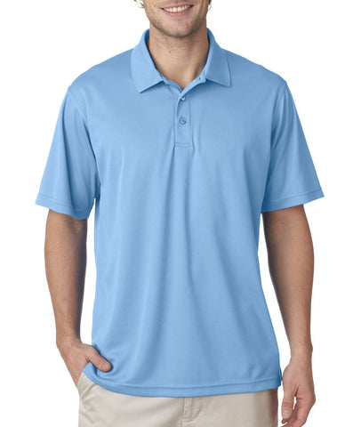 UltraClub Men's Cool & Dry Mesh Pique Polo - Columbia Blue
