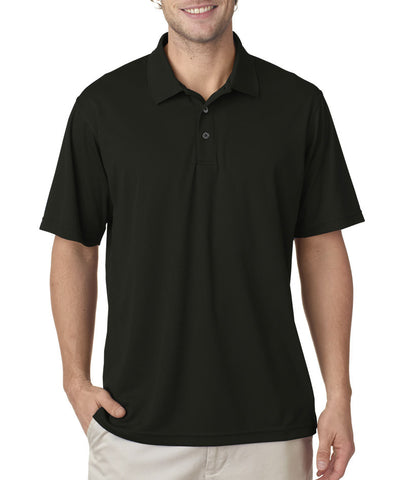 UltraClub Men's Cool & Dry Mesh Pique Polo - Black