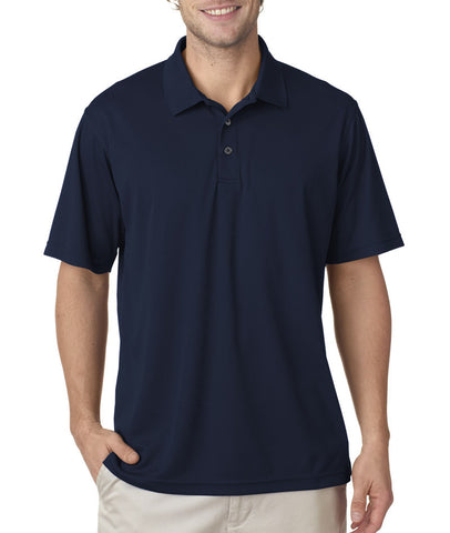 UltraClub Men's Cool & Dry Mesh Pique Polo - Navy (S)