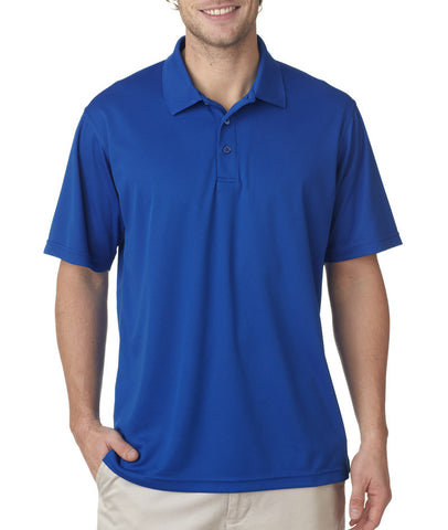 UltraClub Men's Cool & Dry Mesh Pique Polo - Royal