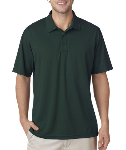 UltraClub Men's Cool & Dry Mesh Pique Polo - Forest