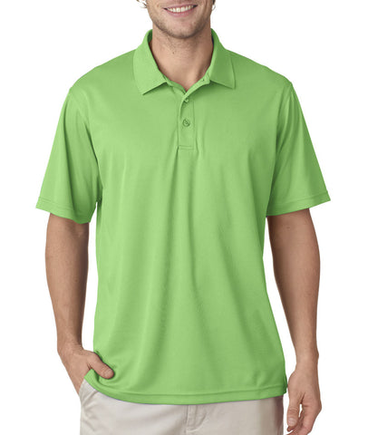 UltraClub Men's Cool & Dry Mesh Pique Polo - Light Green