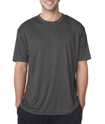 UltraClub® Men's Cool & Dry Sport Performance Interlock Tee - Charcoal