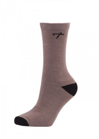 "High Quality """"Regals"""" Crew Socks - Grey/Black Case Pack 48"