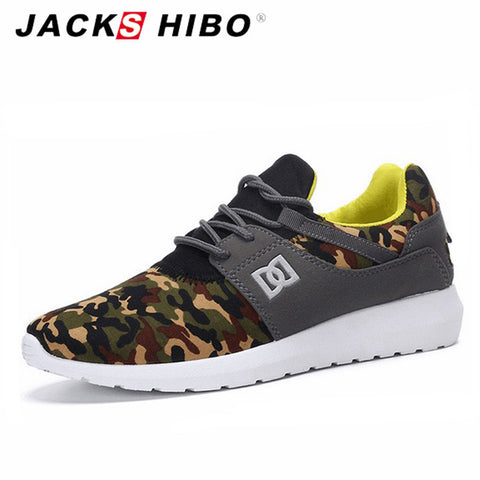 JACKSHIBO  Zapatillas Hombre Army Green Mens Shoes Casual Footwear