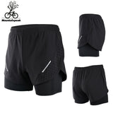 Two Running 4 Colours Double Layer Quick Gym Marathon Shorts