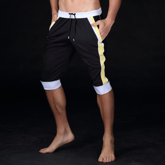 leisure Sporting shorts trousers elastic brand Gyms mens trousers