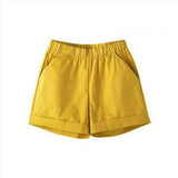 New 2017 summer candy color women shorts hot sale plus size cotton