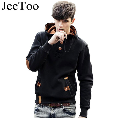 Men Hoodies Brand Caual Hoodies Fleece Fashion Hip Hop Warm Polo Hoody Jacket Sweatshirt