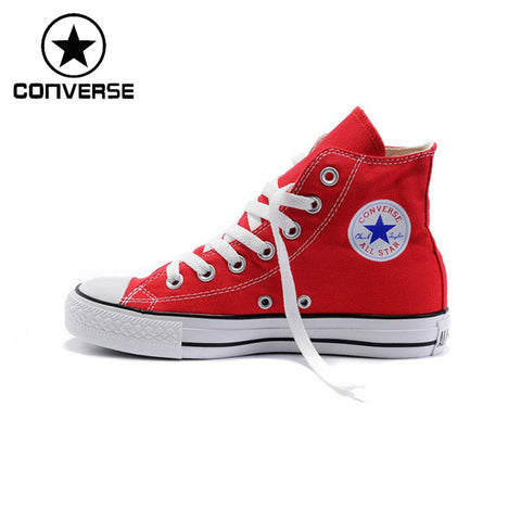 Original  Converse Classic Unisex Canvas Skateboarding Shoes High top Sneaksers
